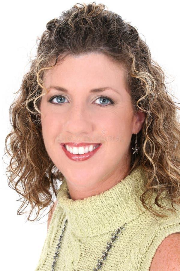 Schönes Berufsgeschäftsfrau-Lächeln lizenzfreie stockbilder