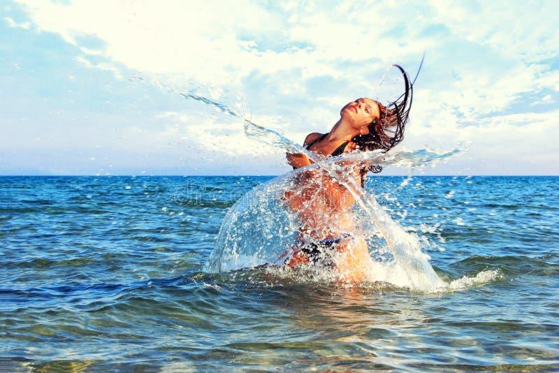 Schönes Bikinibaumuster stockfotografie