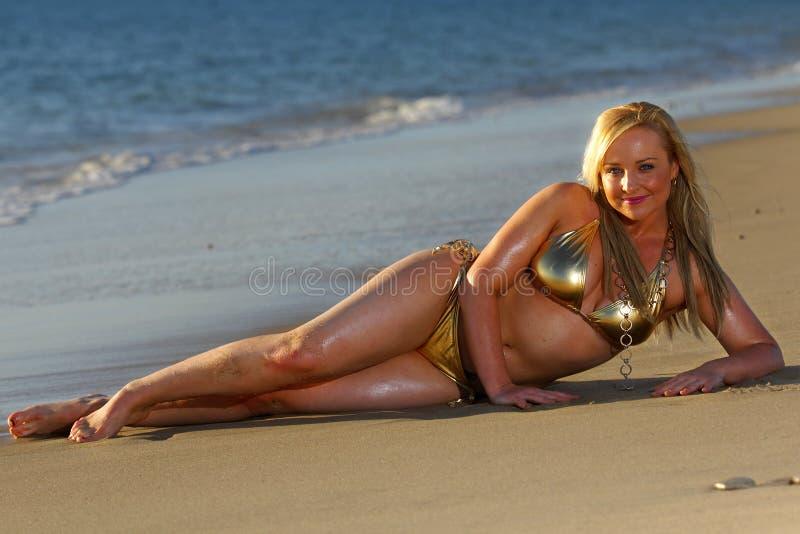Schönes Bikinimädchen stockfotos