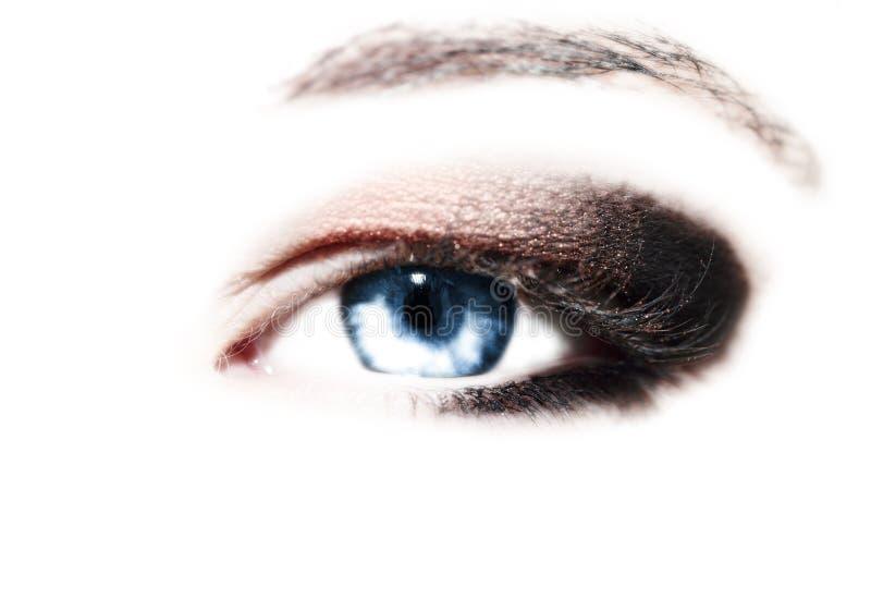 Schönes blaues Auge lizenzfreie stockbilder