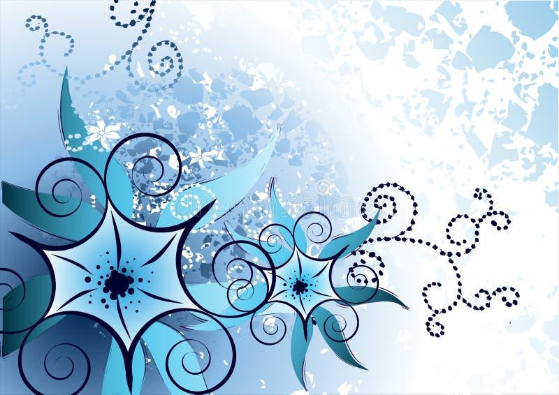 Schönes blaues Blumen vektor abbildung