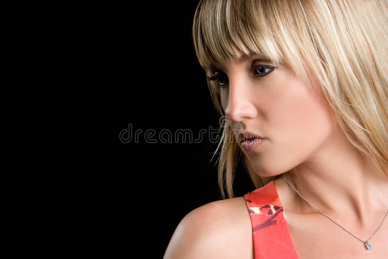 Schönes blondes lizenzfreies stockbild