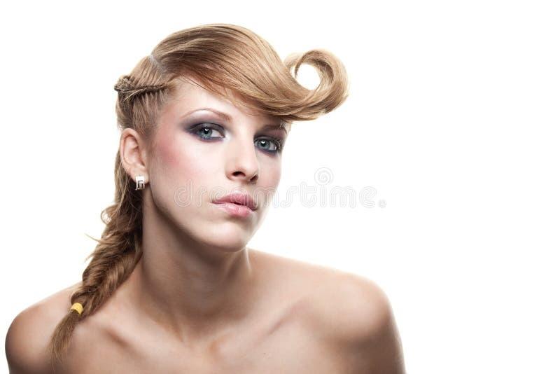 Schönes blondes Portrait stockbild