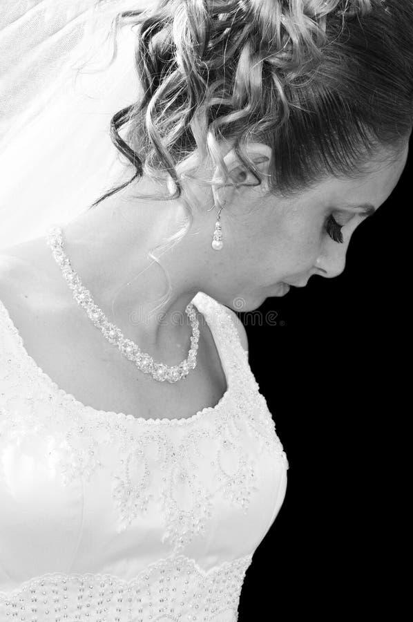 Schönes Brautportrait stockfoto