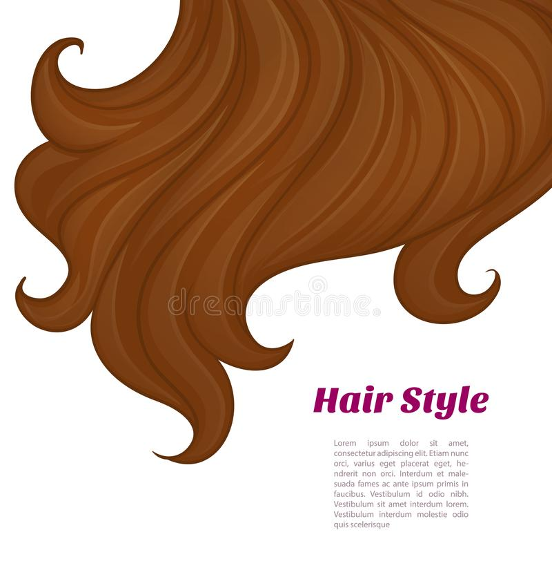 Schönes Brunette-Haar vektor abbildung