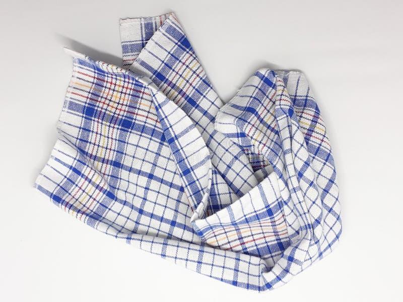 Schönes buntes Kleidergewebe-Gewebe mit künstlerischen Verzierungen kopieren in weißem lokalisiertem Hintergrund 28 lizenzfreies stockbild