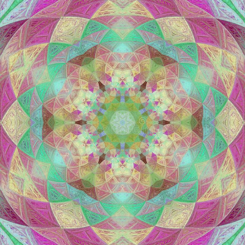 Schönes Deco Mandala Patterned Design, Dreiecke Amulett vektor abbildung