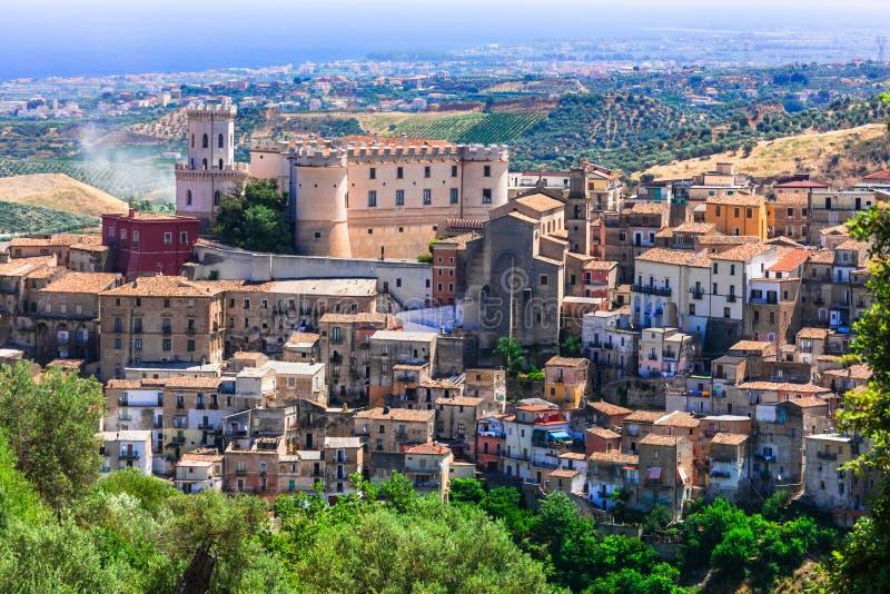 Schönes Dorf Corigliano Calabro, Kalabrien, Italien stockfoto