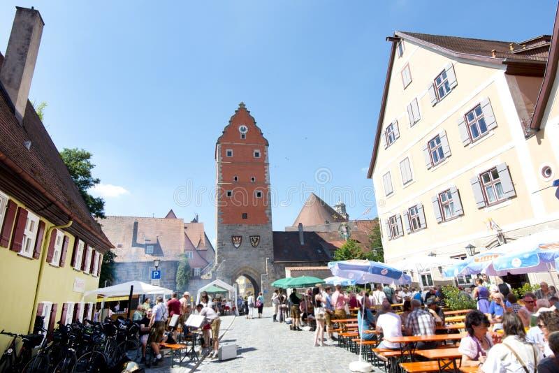 Schönes Dorf Dinkelsbuhl stockfoto