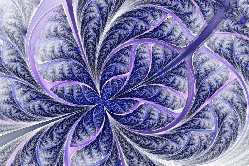 Schönes eisiges Muster, Blume oder Schmetterling in der Buntglasfensterart stock abbildung