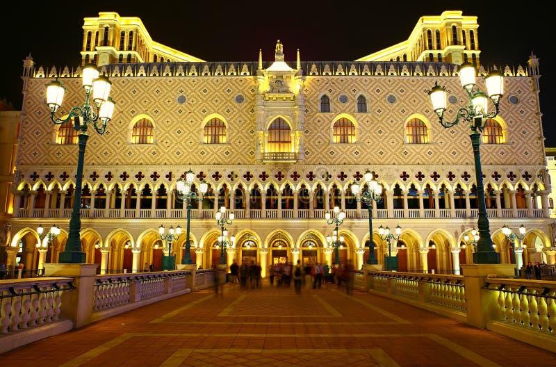 Schönes façade des venetianischen Hotels und des Kasinos, Macao lizenzfreies stockfoto