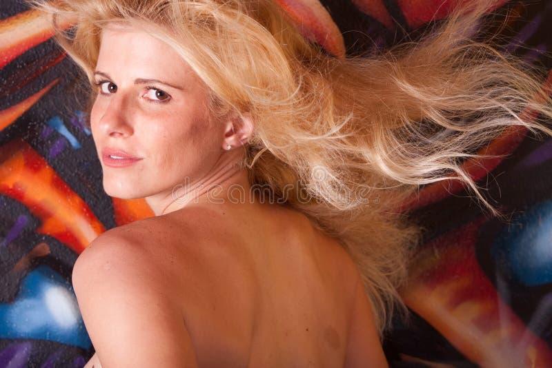 Schönes Frau headshot lizenzfreie stockfotos