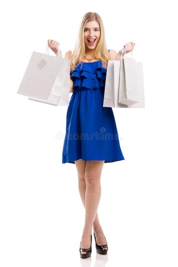 Schönes Fraueneinkaufen stockbild