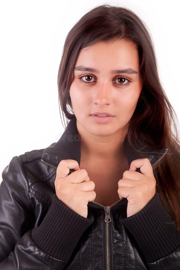 Schönes Frauenportrait stockfotos