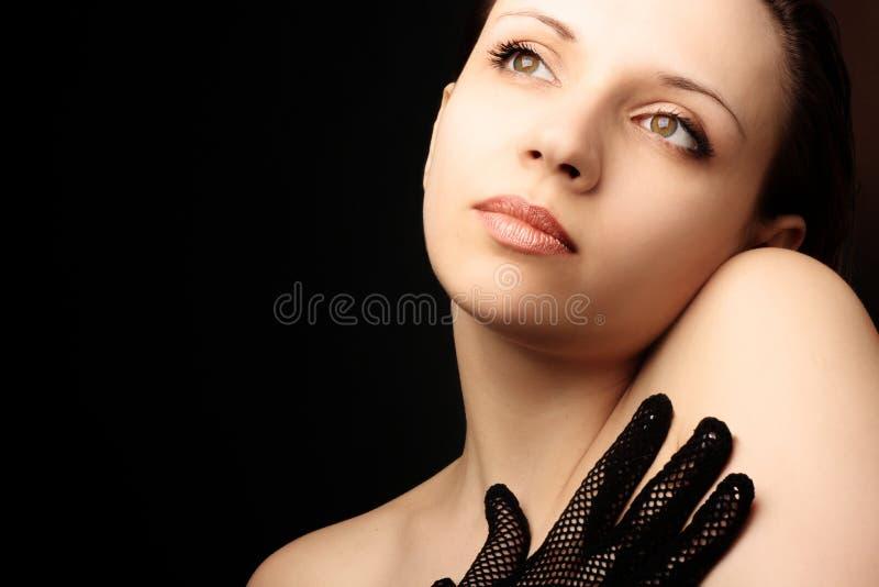 Schönes Frauenportrait lizenzfreie stockfotografie