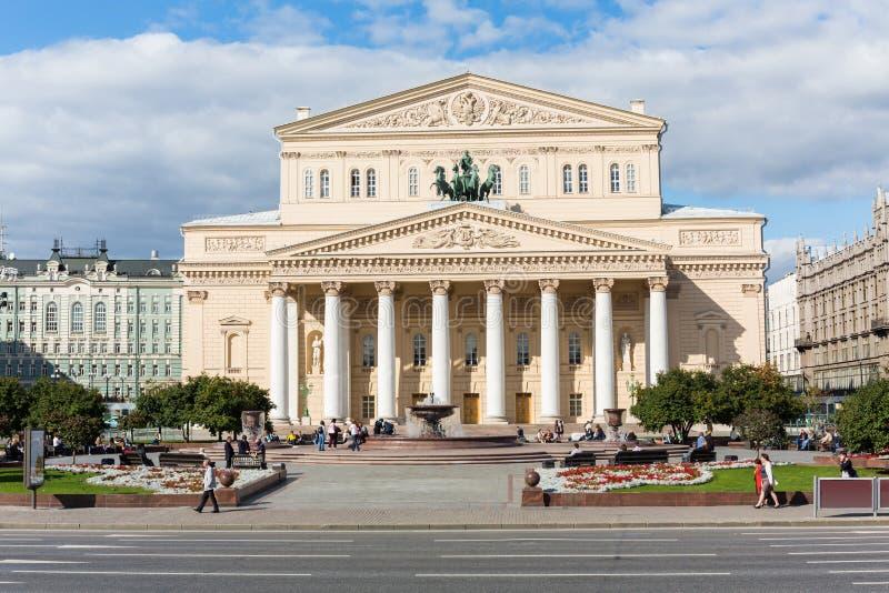 Schönes Gebäude des Bolshoi-Theaters stockfoto