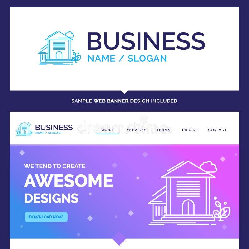 Schönes Geschäfts-Konzept-Markenname-Haus, Haus, Wohnung, BU lizenzfreie abbildung