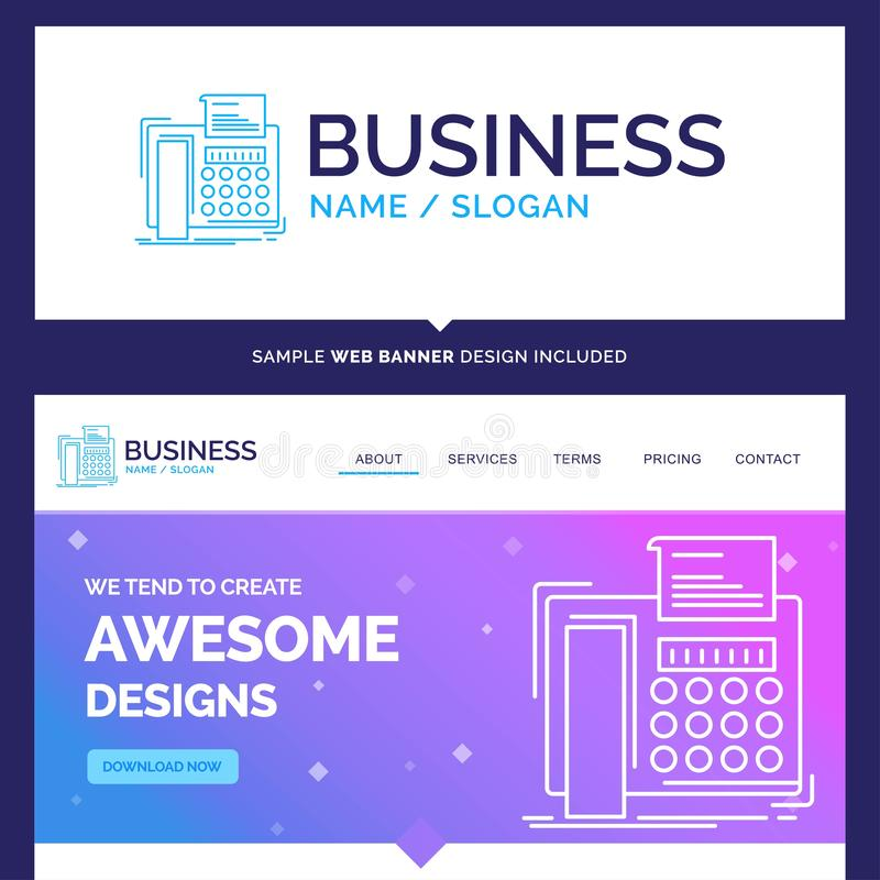 Schönes Geschäfts-Konzept-Markennamefax, Mitteilung, Telefon, t lizenzfreie abbildung