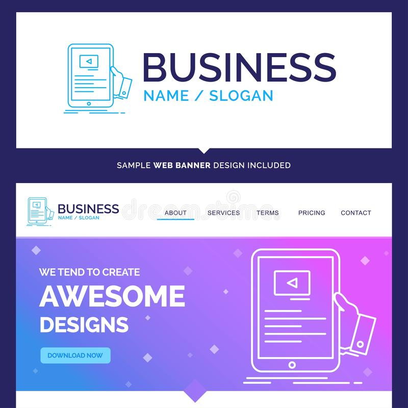 Schönes Geschäfts-Konzept-Markennameforum, on-line, webinar, Se lizenzfreie abbildung