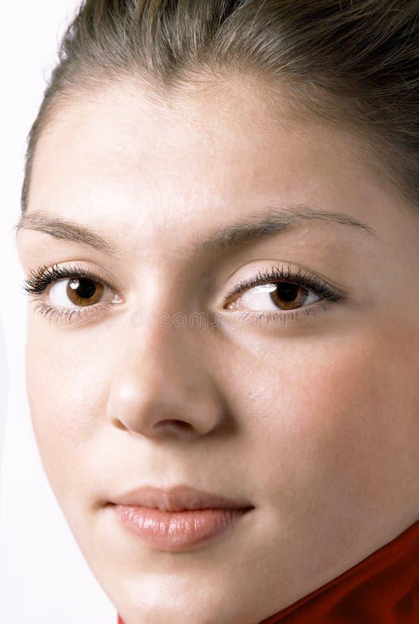 Schönes Gesicht Der Jungen Frau Stockfoto