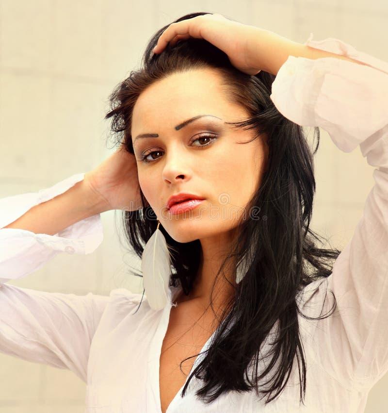 Schönes Gesicht mit gesunder Haut lizenzfreie stockbilder