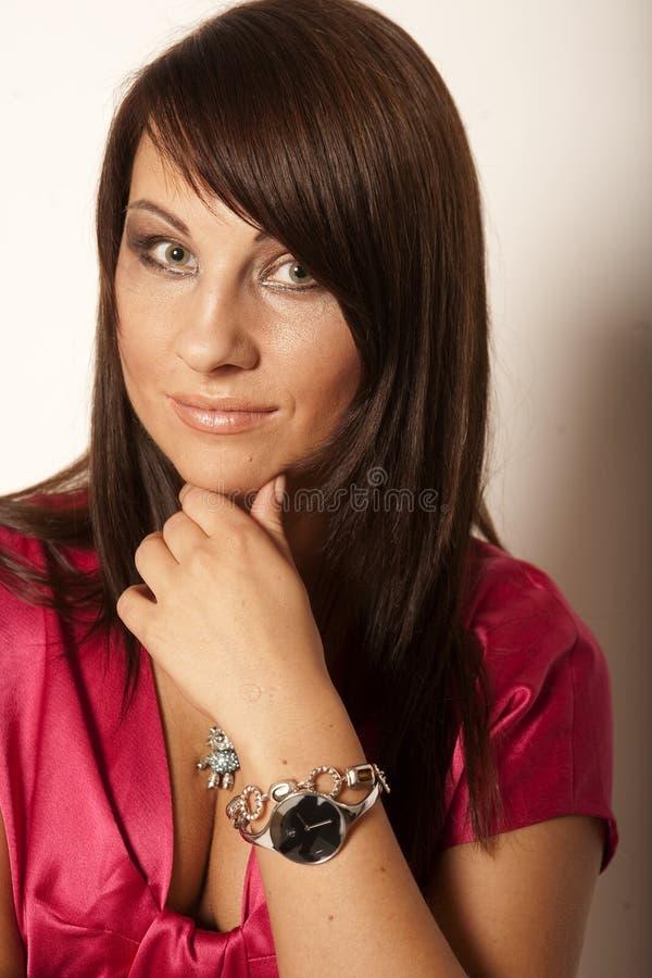 Schönes glamor Mädchen lizenzfreie stockfotografie
