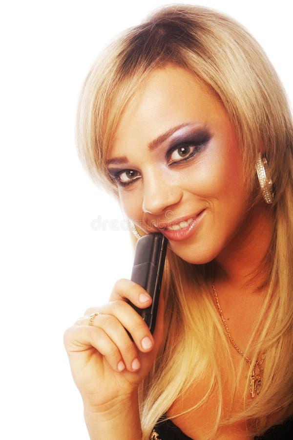 Schönes glamor Mädchen stockfoto