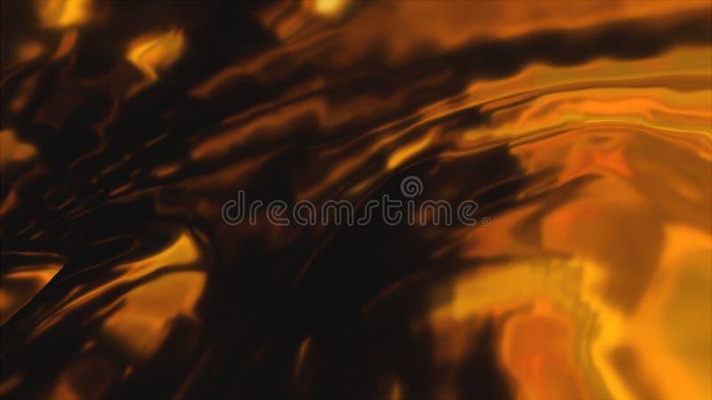 Schönes Goldgewellter Stoff, computererzeugter Hintergrund, 3d übertragen Hintergrund vektor abbildung