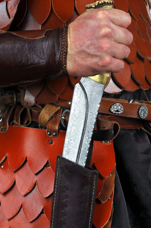Schönes handgemachtes Messer lizenzfreies stockbild