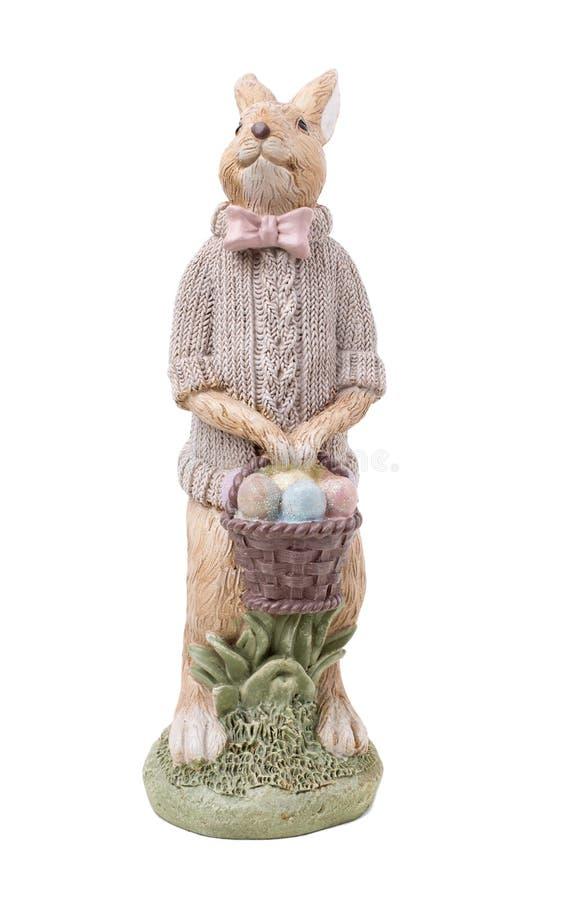 Schönes handgemachtes Ostern-Kaninchen stockfotografie