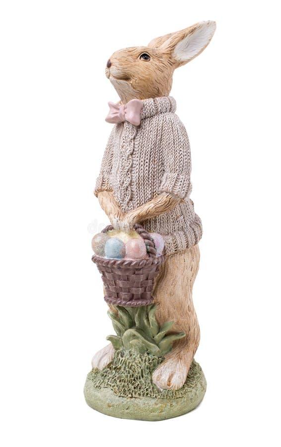 Schönes handgemachtes Ostern-Kaninchen lizenzfreie stockfotos