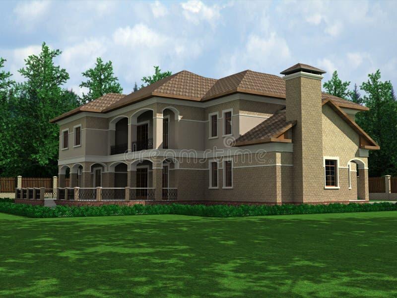 Schönes Haus lizenzfreie abbildung