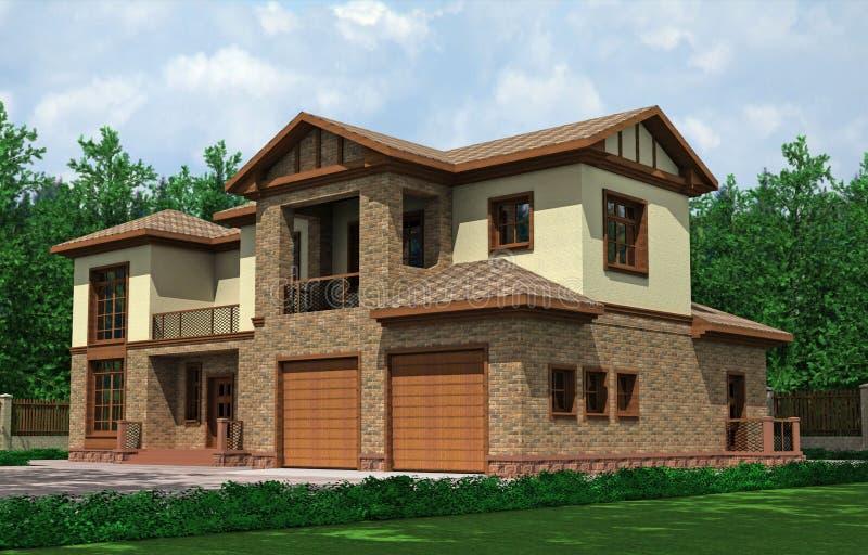 Schönes Haus stock abbildung