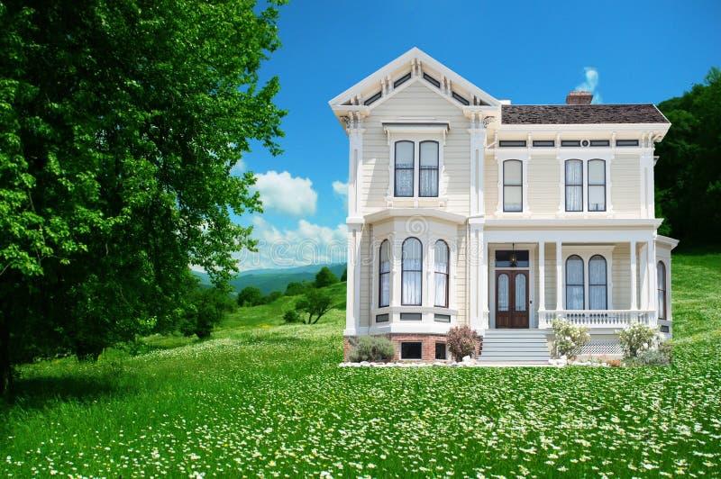 Schönes Haus stockbild