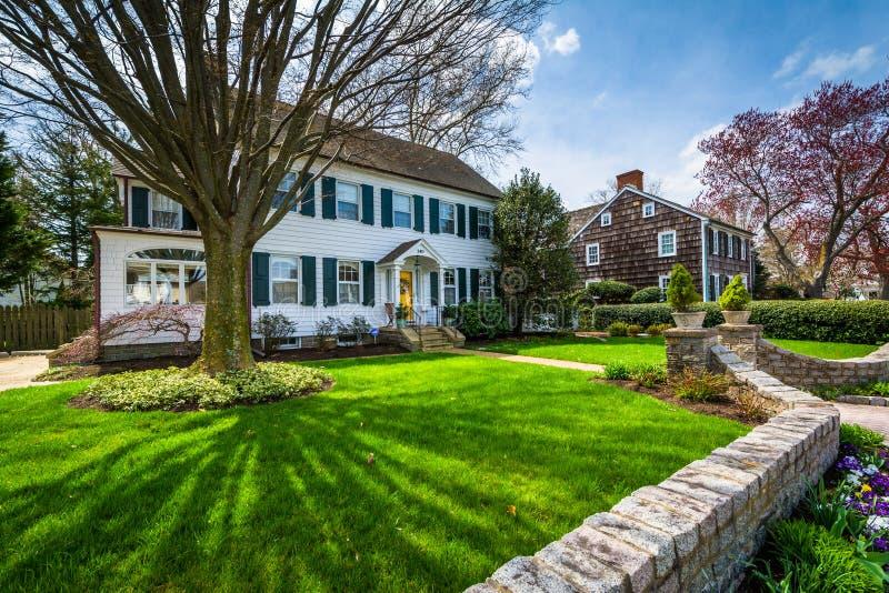 Schönes Haus in Lewes, Delaware stockfotografie