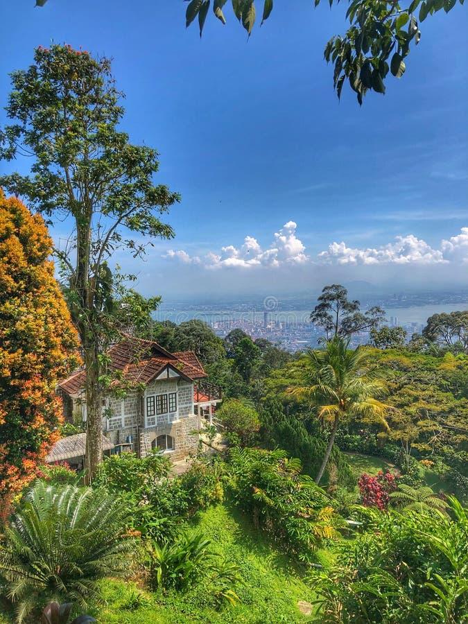 Schönes Haus in Penang-Insel lizenzfreies stockbild