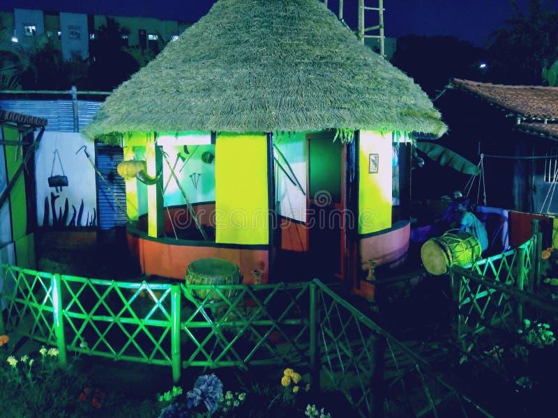 Schönes Haus von oram Stammes- lizenzfreie stockbilder