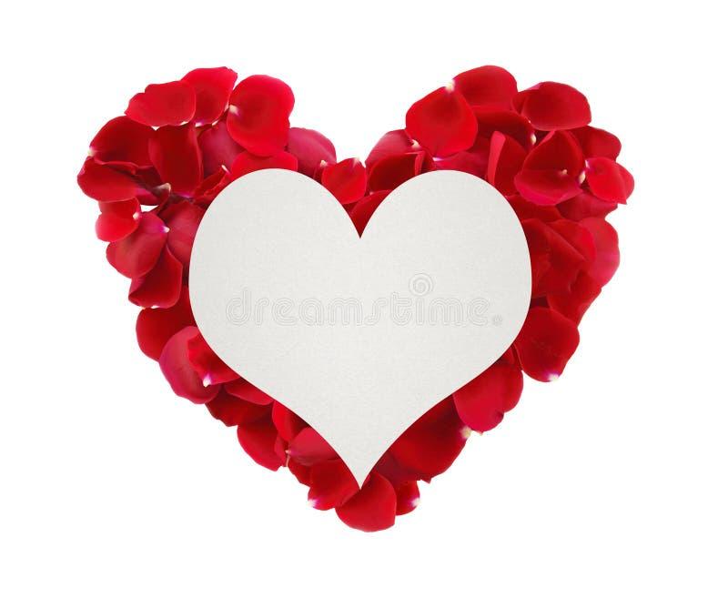 Schönes Herz Von Roten Rosafarbenen Blumenblättern Und Von ...