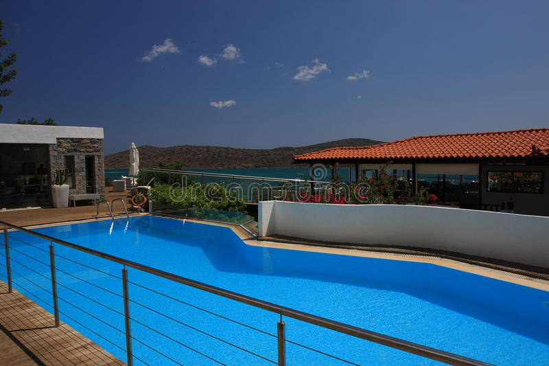 Schönes Hotel in Kreta stockfotografie