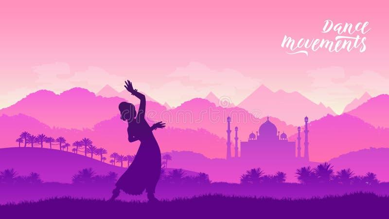 Schönes indisches Mädchentänzerkonzept vektor abbildung