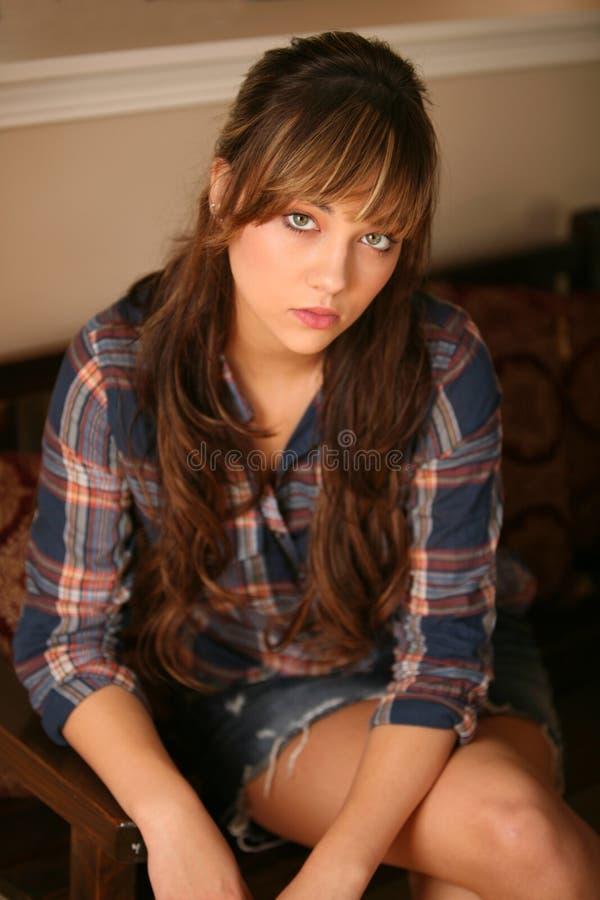 Schönes jugendlich Mädchen stockbild