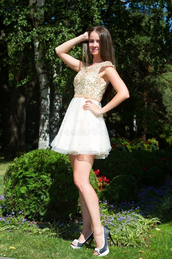 Schönes junges Mädchen mit dem braunen Haar lizenzfreie stockfotografie