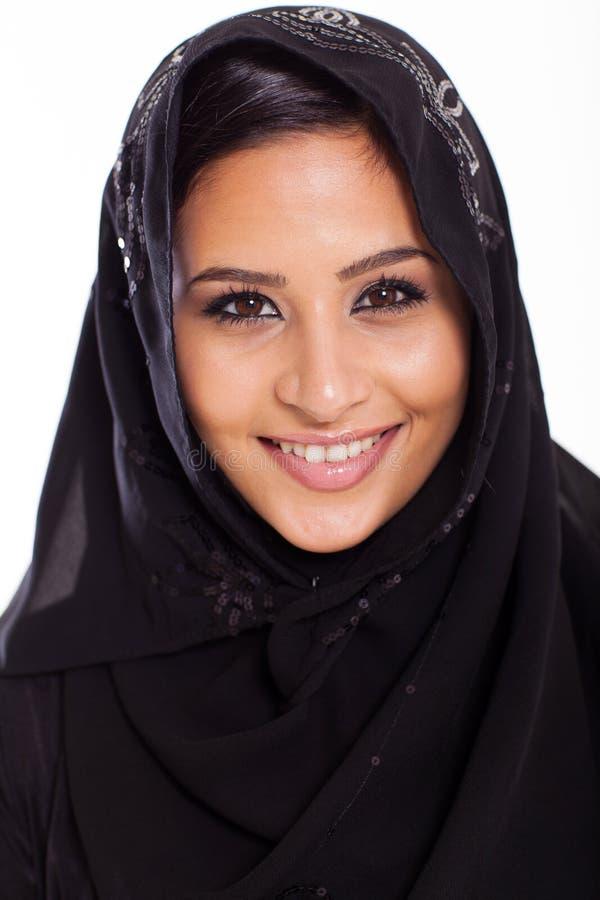 Schöne moslemische Frau stockbilder