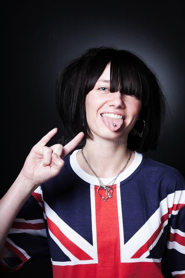 Schönes junges Punkmädchen lizenzfreie stockbilder