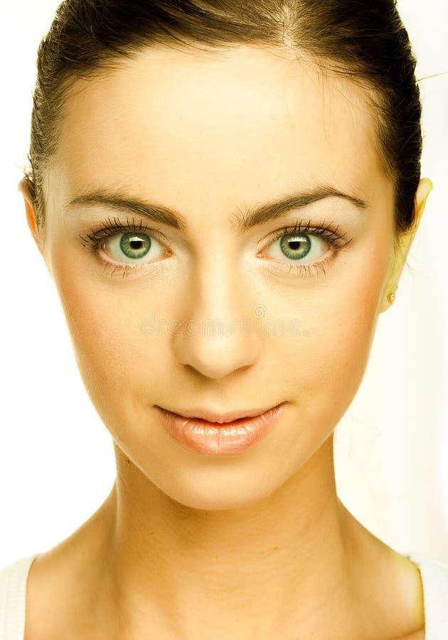 Schönes junges weibliches Gesicht stockfoto