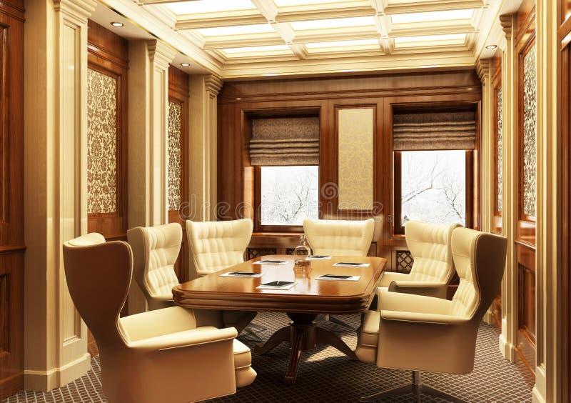 Schönes Konferenzzimmer in der klassischen Art stockbild