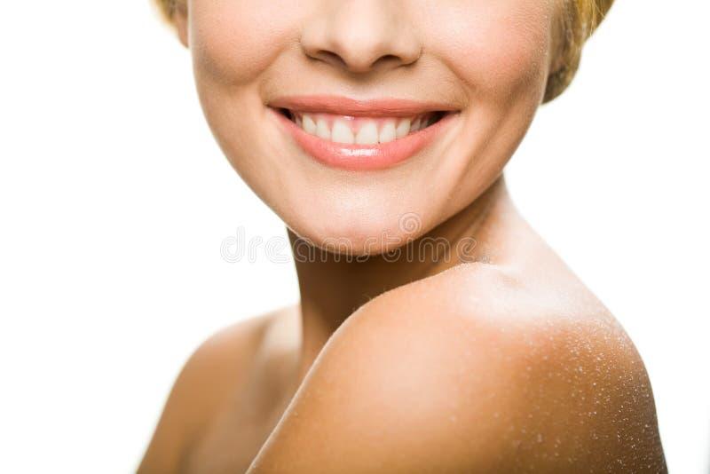 Schönes Lächeln lizenzfreies stockfoto