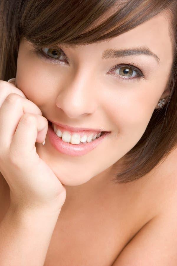 Schönes lächelndes Gesicht stockfotos