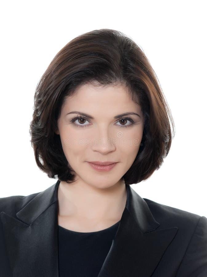 Schönes lächelndes kaukasisches Geschäftsfrauporträt lizenzfreies stockbild