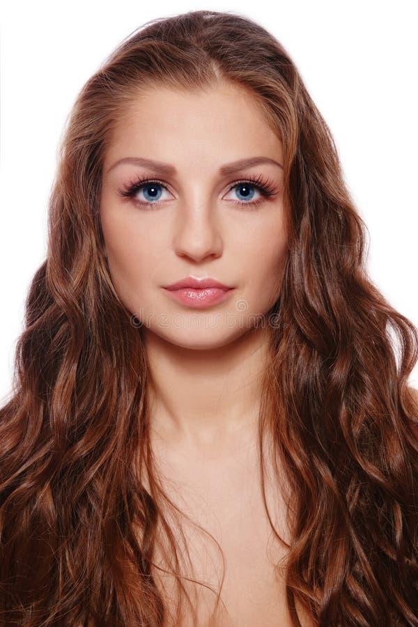 Schönes langes Haar lizenzfreies stockbild